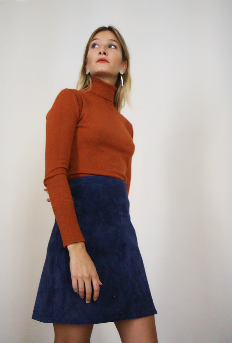 Soft Orange Turtleneck Knit