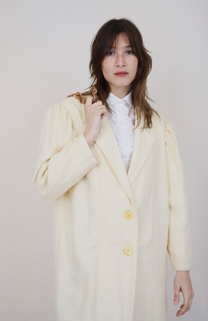Cream 70s Lightweight Coat