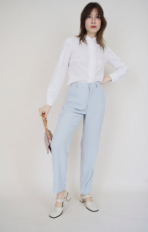 Light Blue Tapered Trousers