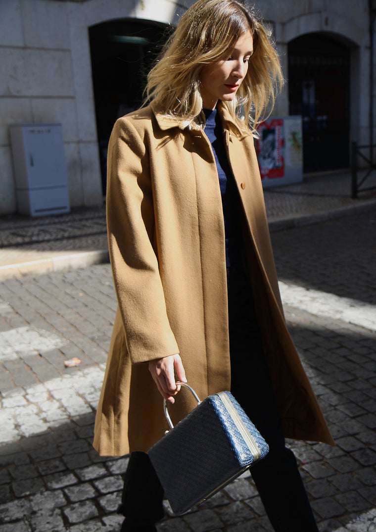Boxy Sandy Wool Tailored Coat