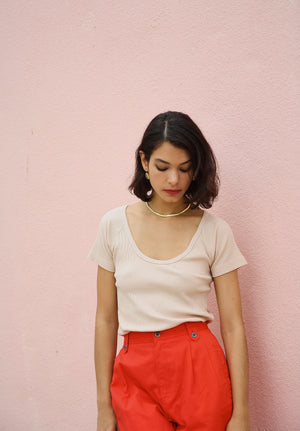 Vintage 90s High Waisted Coral Shorts