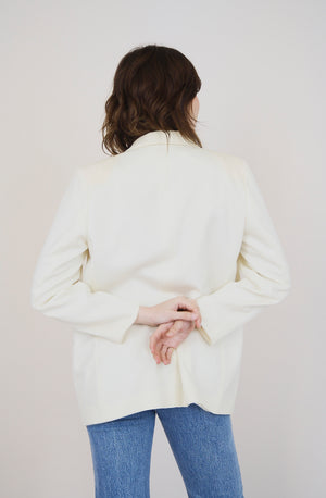 Cream Vintage Tailored Blazer
