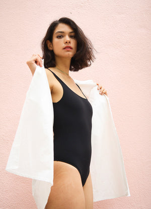 Due One-Piece Swimsuit Black
