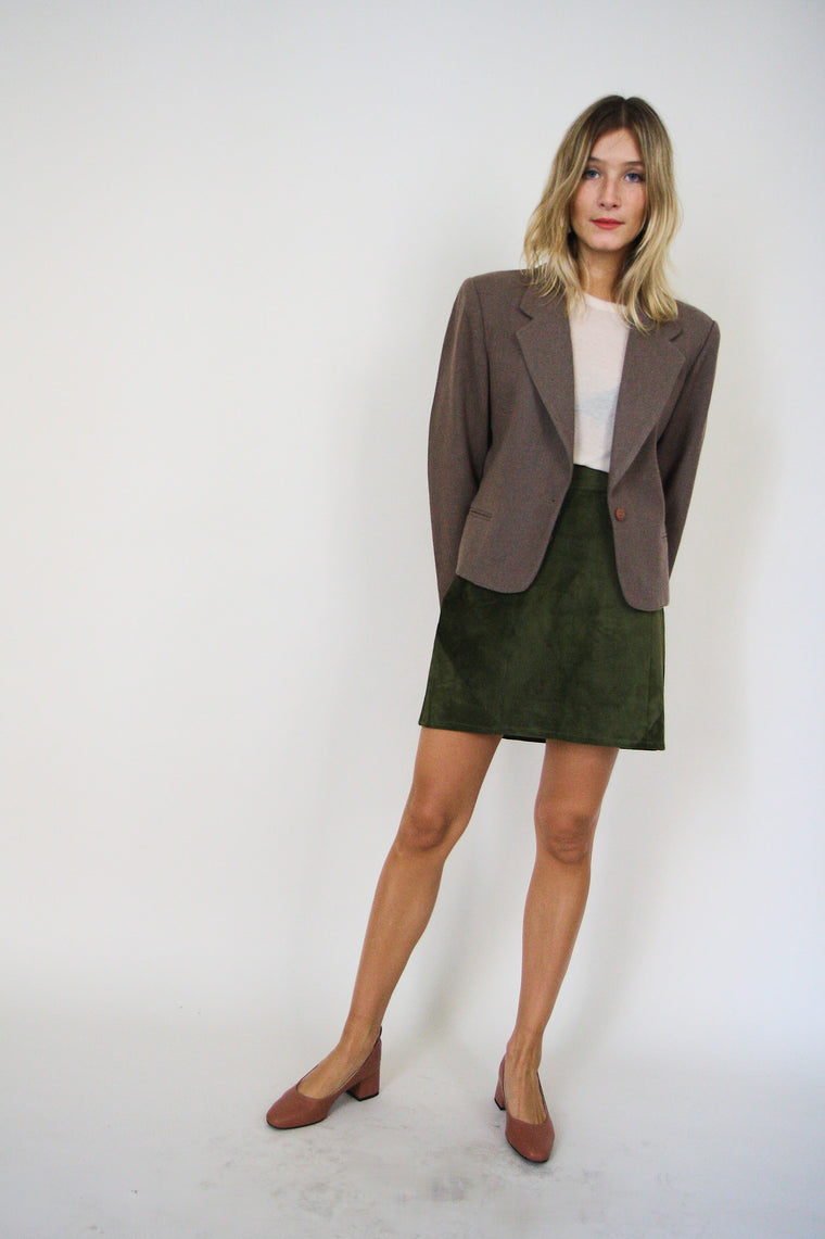 Mushroom Tailored Wool Blazer
