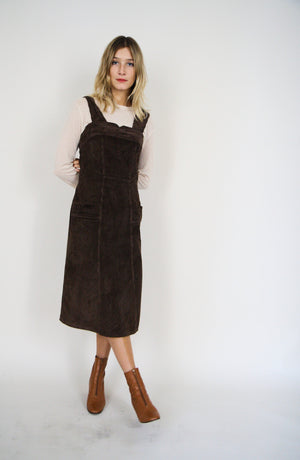 Cotton Cordroy Pinafore Dress