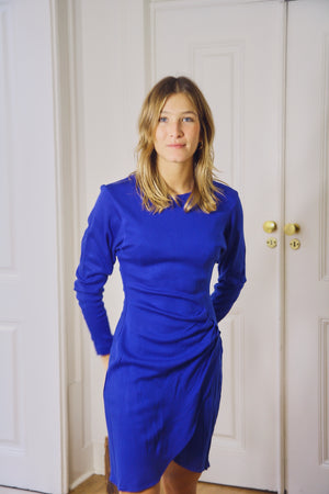 80s Blue Fitted Dress