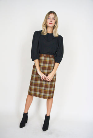 Gorgeous Checked Pencil Skirt