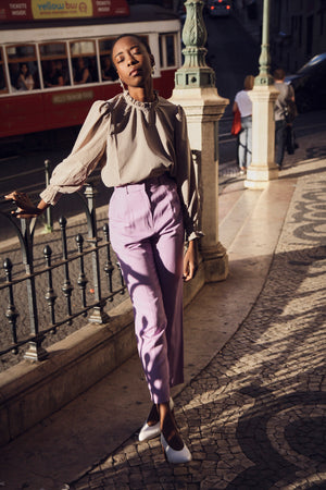 Lilac tailored trousers
