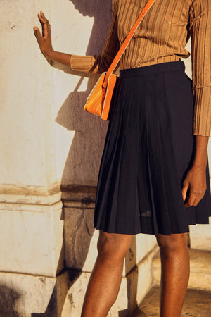Japanese Navy Pleated Skirt