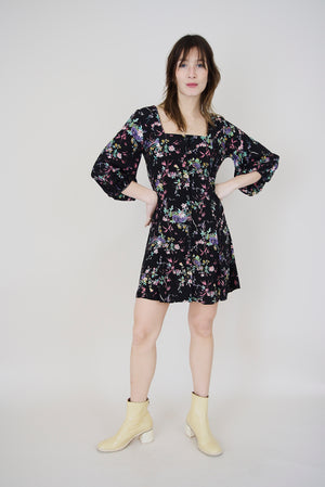 Valerie Meadow Dress Black