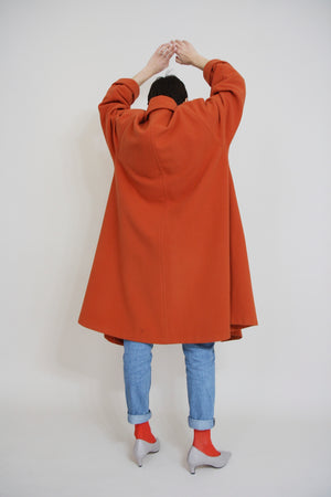 Bright Orange Swing Coat