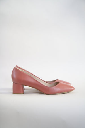 Jeanne Pink Round Toe Pumps