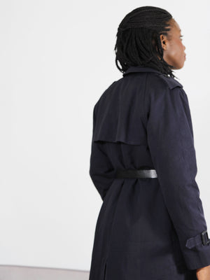Navy Classic Trench Coat