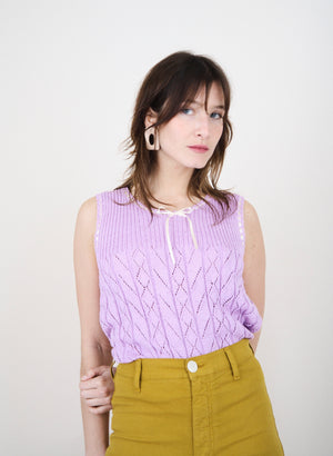 Cute Lilac Knit Top