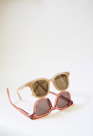 Taupe Square Sunglasses
