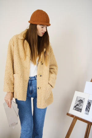 Beige Teddy Jacket