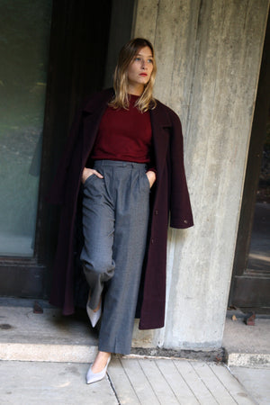 Tailored Grey Wool Trousers
