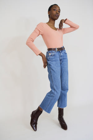 Lois Vintage Straight Cut-Off Jeans
