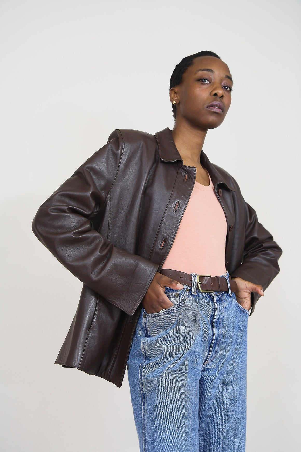 Chocolate Vintage Leather Jacket