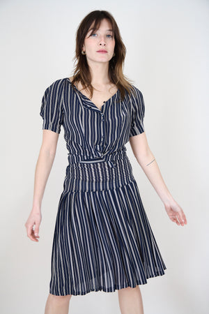 Vintage Stripped Two Piece Set