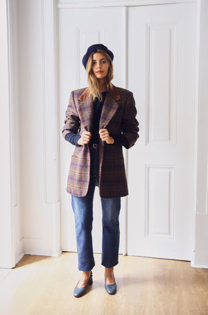Gorgeous Checked Wool Blazer