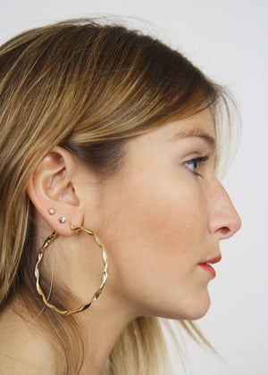Pretty Twisted Hoop Earrings