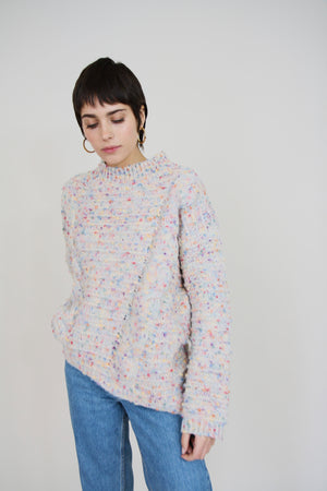 Regina Oatmeal Speckled Knit