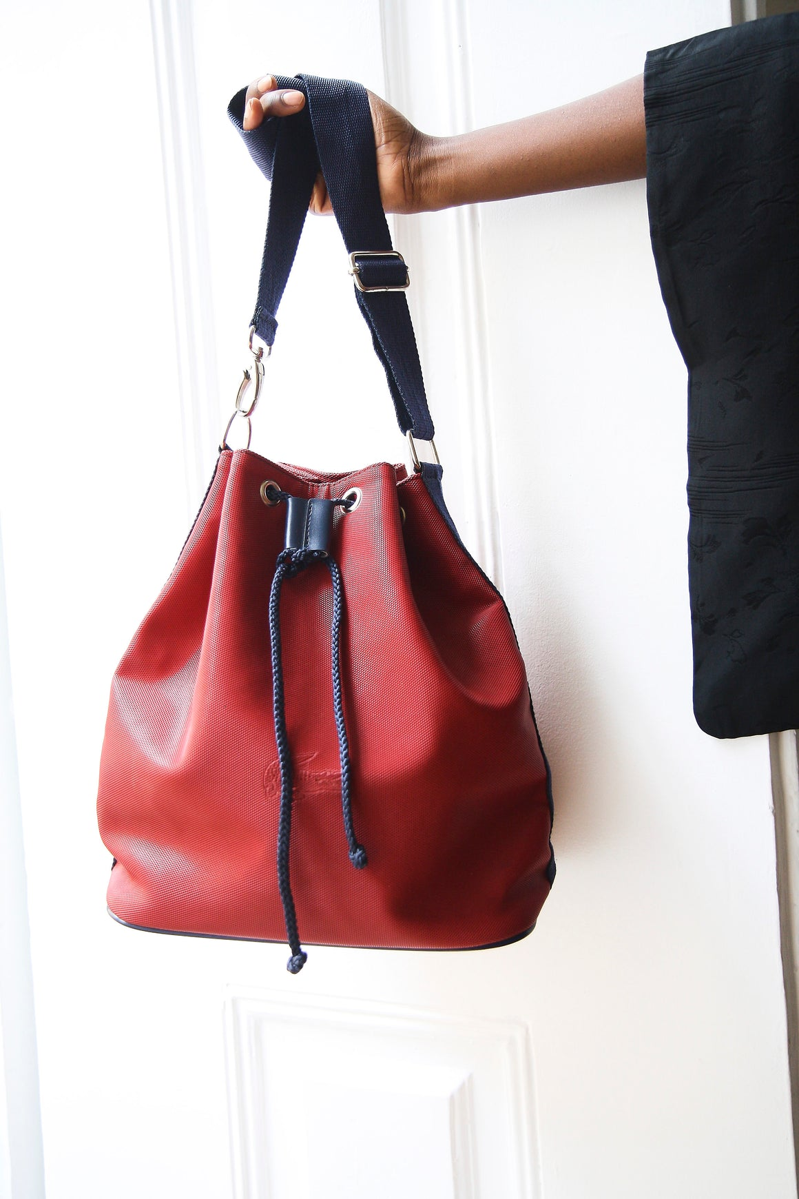 Lacoste Red Bucket Bag