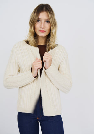 Chunky Wool Mix Cardigan