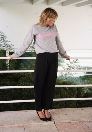 Sohan Black High Waist Trousers
