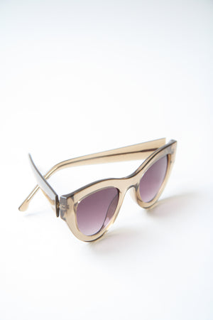 Phoenix Cat Eyes Latte Sunglasses