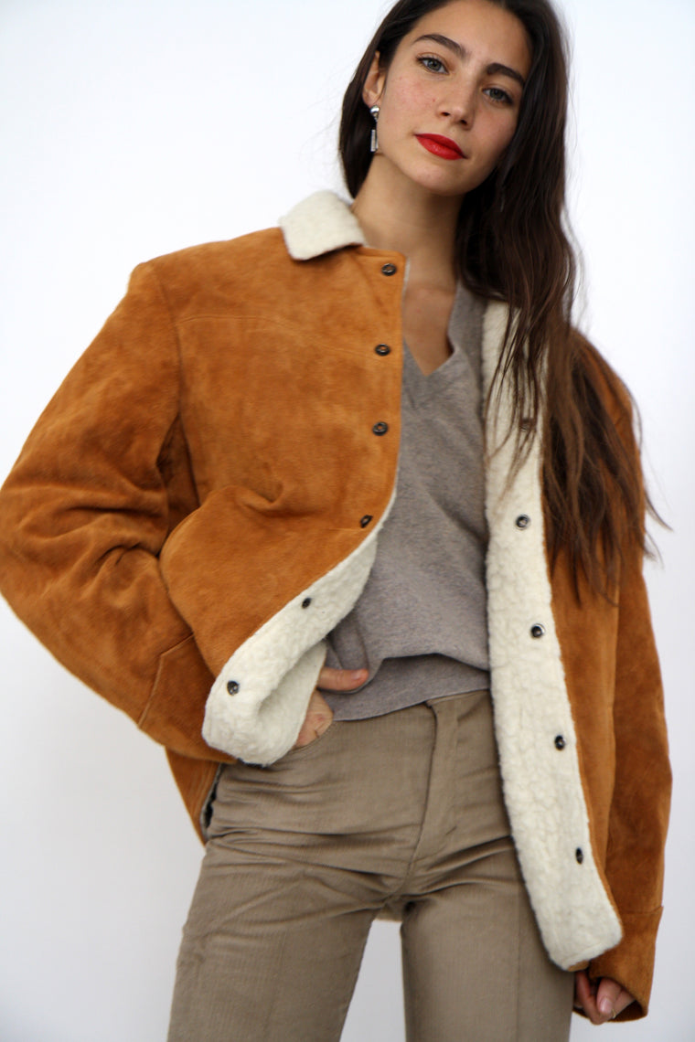Cozy Suede Sheepskin Jacket
