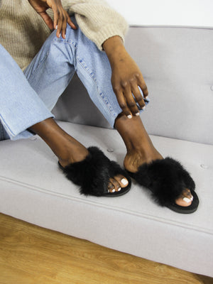 Black Fur Slides