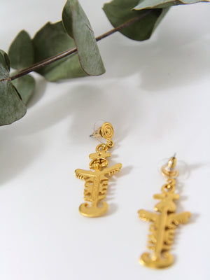 Cocora 24kt Warrior Earrings