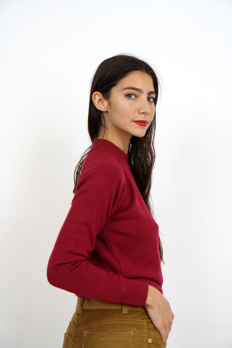Soft Burgundy Fine Knit
