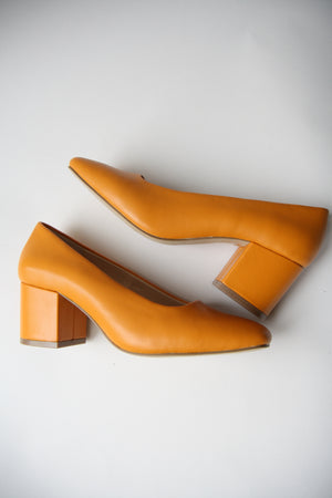 Nohemi Apricot Leather Pumps