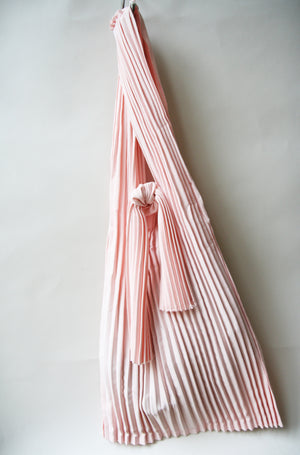 Powder Pink Pleated Cotton Tote