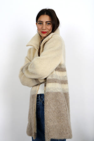 60s Mohair Zipped Jacket