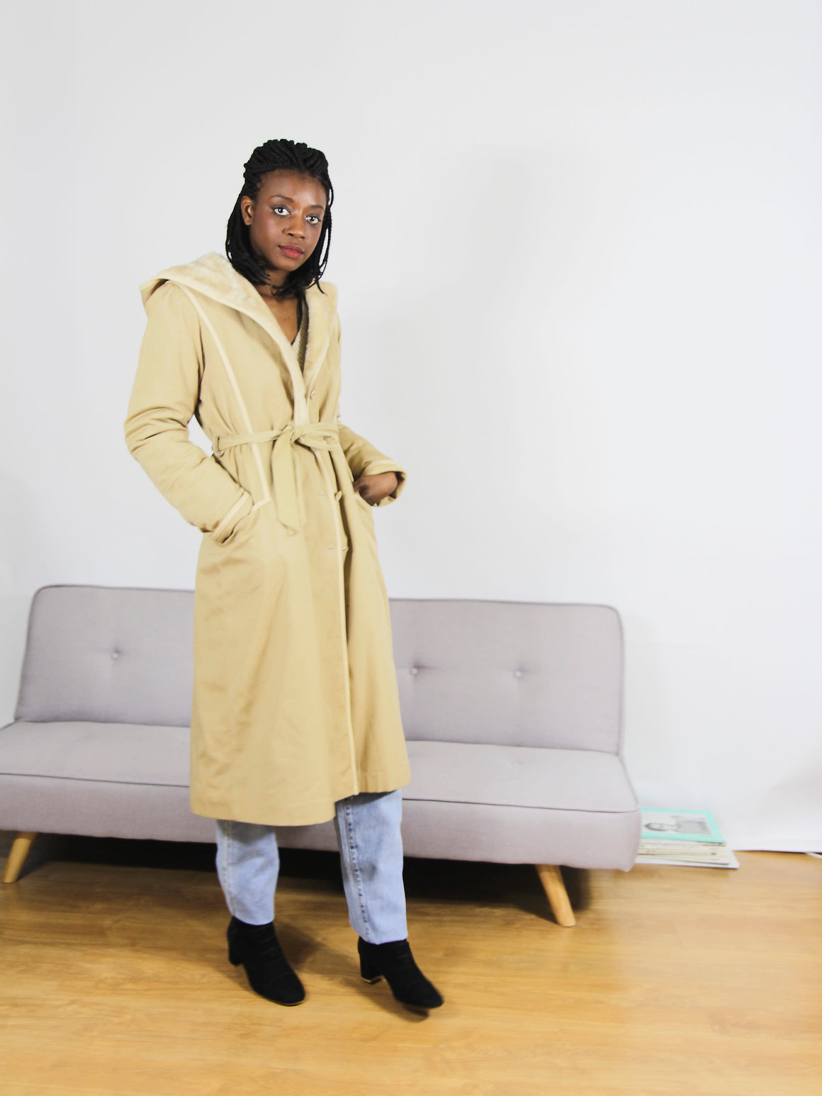Hooded Lined Spring Coat