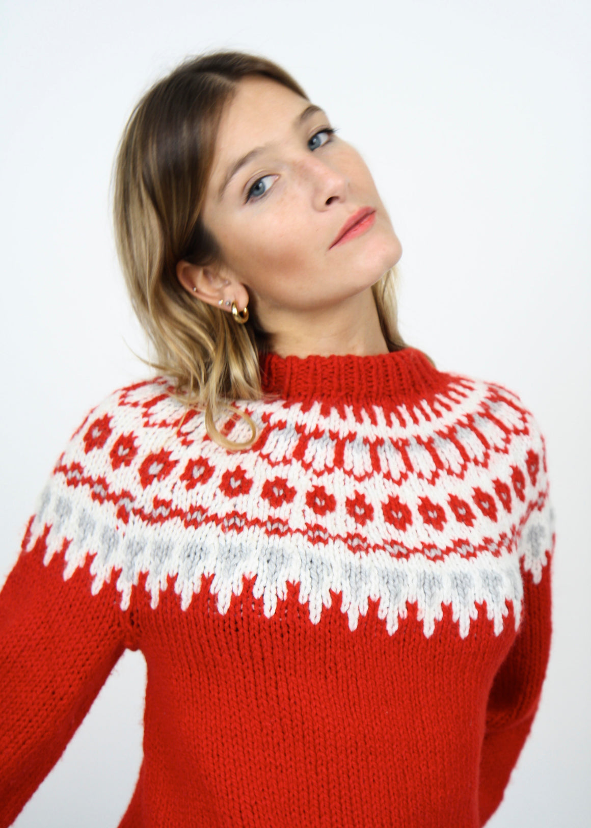 Christmasy Wool Fairisle Jumper