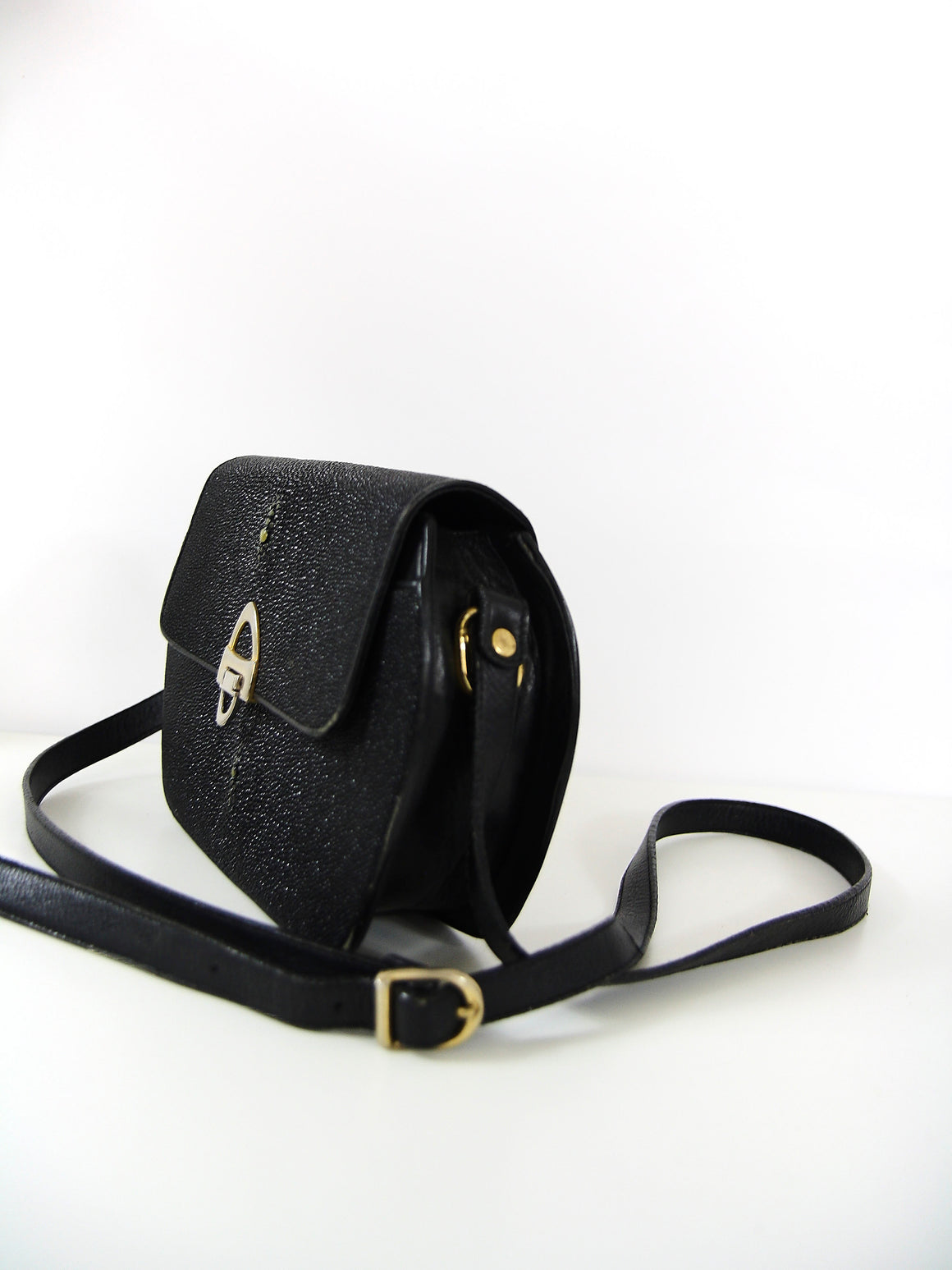 Black Stingwray Leather Handbag