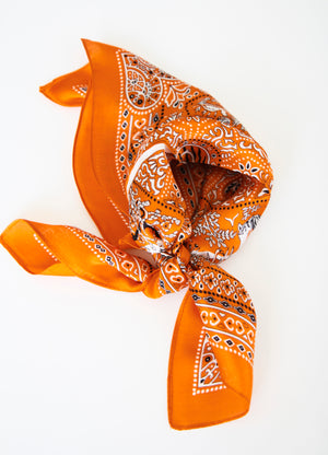 Wild And Free Print Silk Scarf