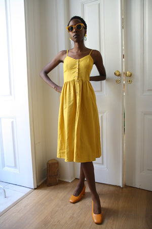 Eve Gold Linen Dress