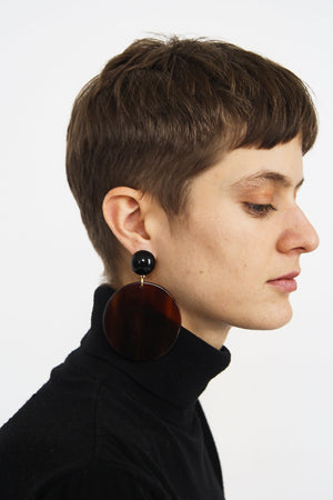 Walnut Ecaille Earrings
