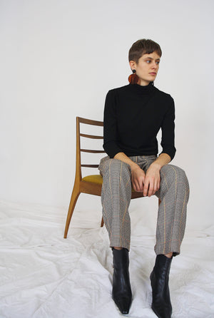90s Dogtooth Wool Trousers