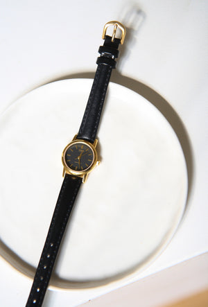 Casio Leather Strap Watch
