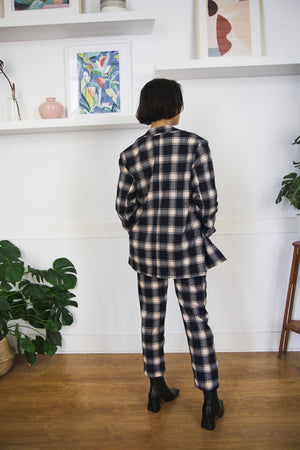 Horizon check pant