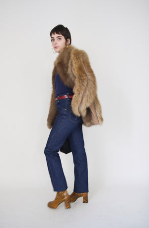 Brown Fox Fur Coat