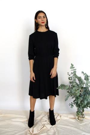 Simple Wool Mix Dress Dress