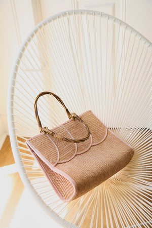 Pale Pink Straw Bag